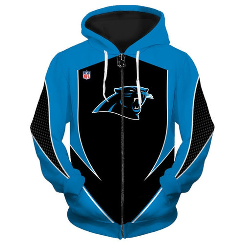 Carolina Panthers Zip Up Hoodies