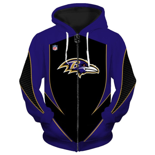 Baltimore Ravens Zip Up Hoodies