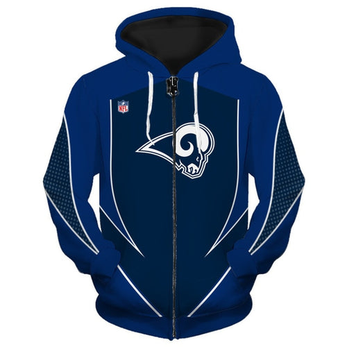 Los Angeles Rams Zip Up Hoodies