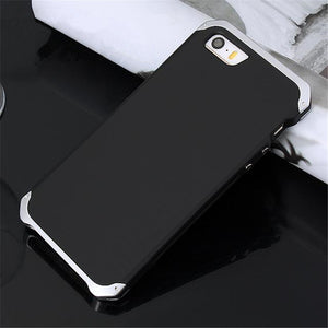 R-JUST Luxury Armor Metal Aluminum + PC Heavy Duty Phone Case For Apple iPhone XR XS XS Max X 8 7 6 5