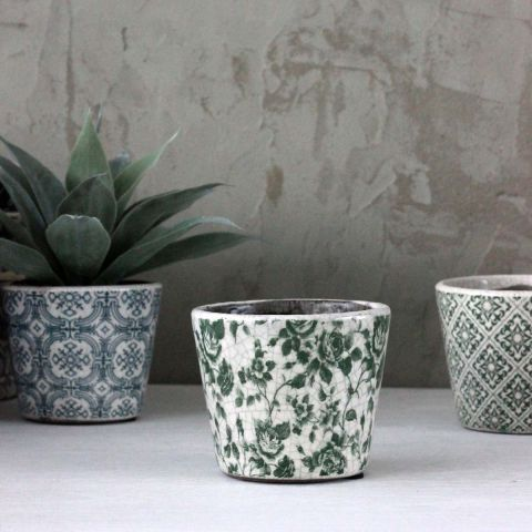 Biggie Best Green Floral Costas Pot