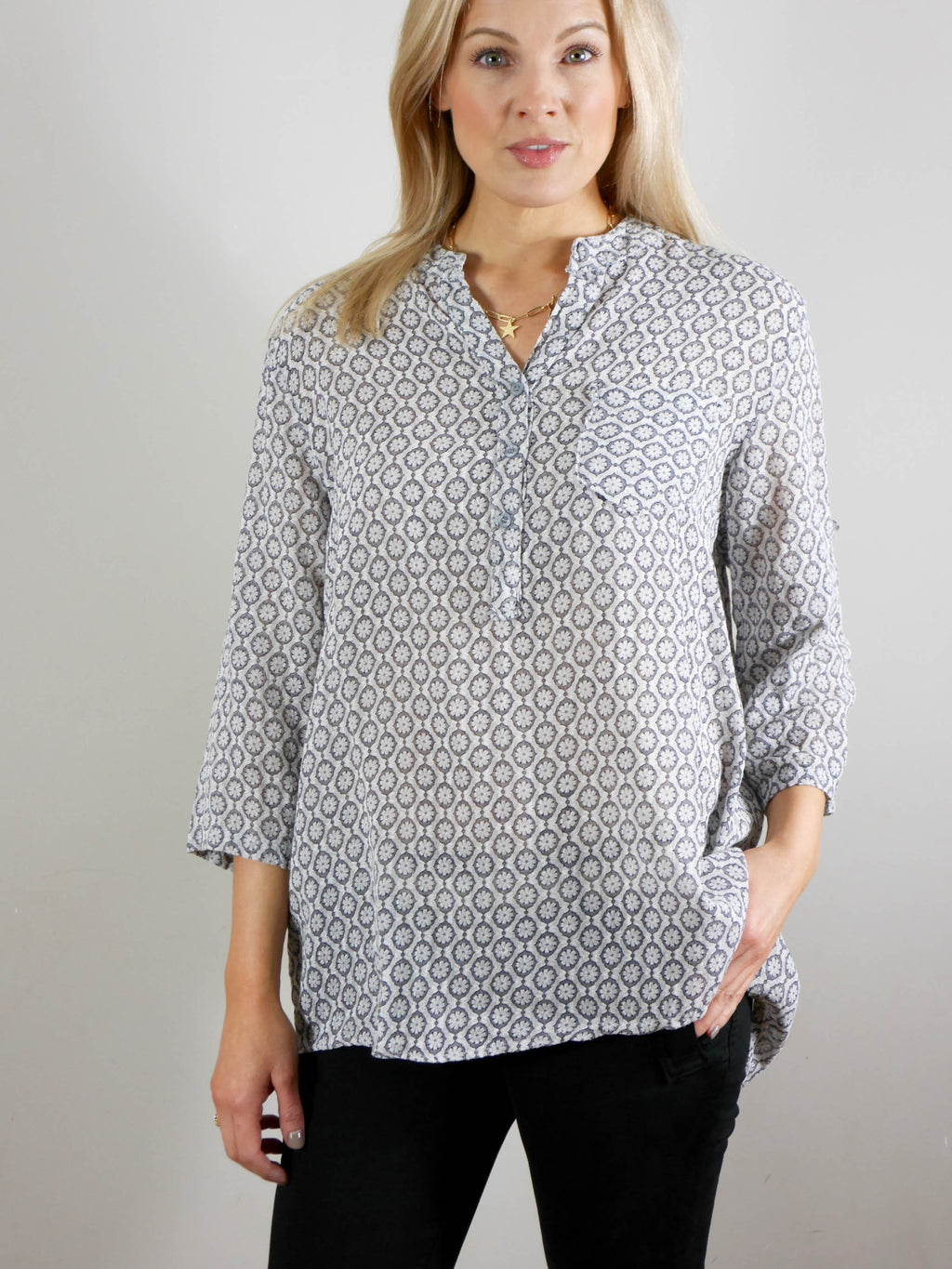 Gabriella Shirt Grey