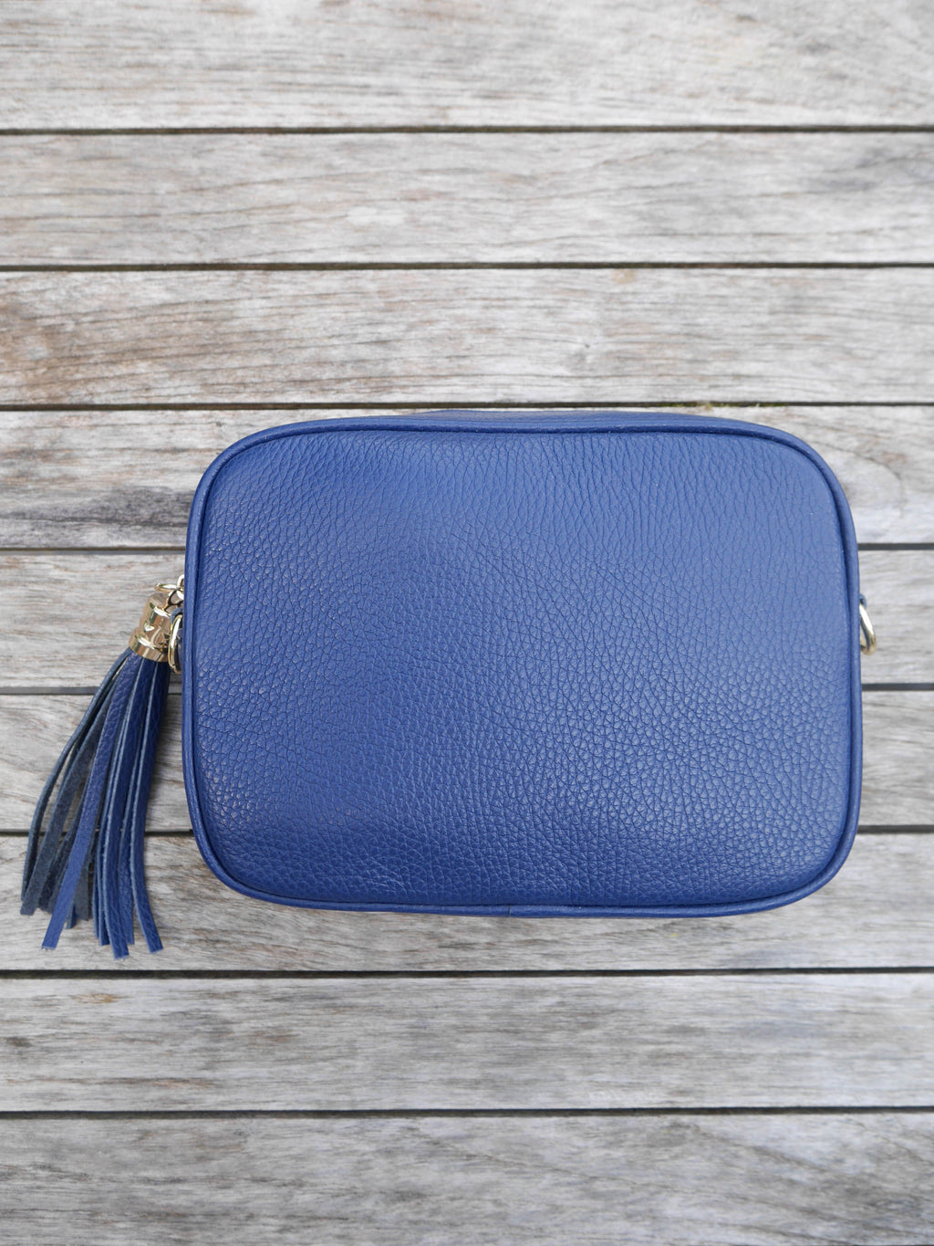 Blue Cross Body Leather Bag