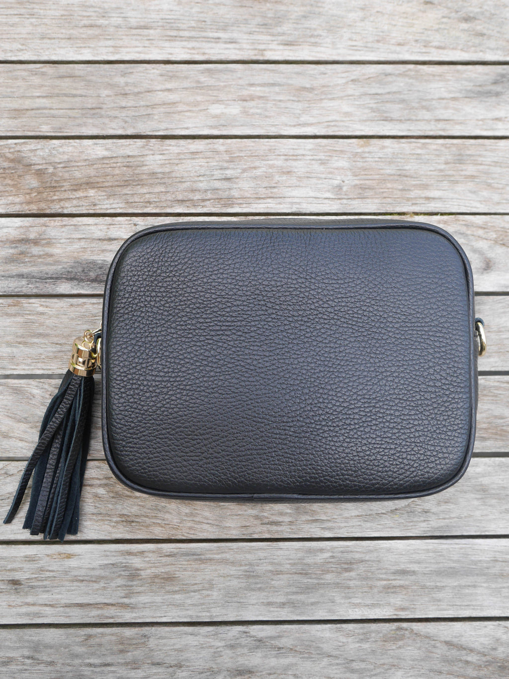 Black Cross Body Leather Bag