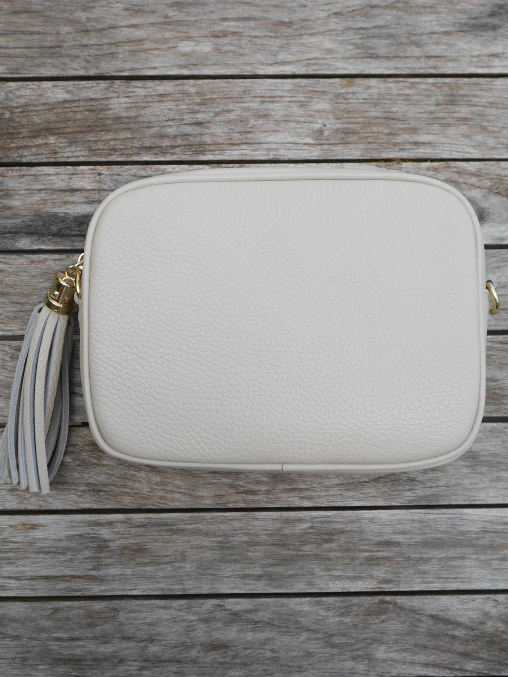 Cream Cross Body Leather Bag