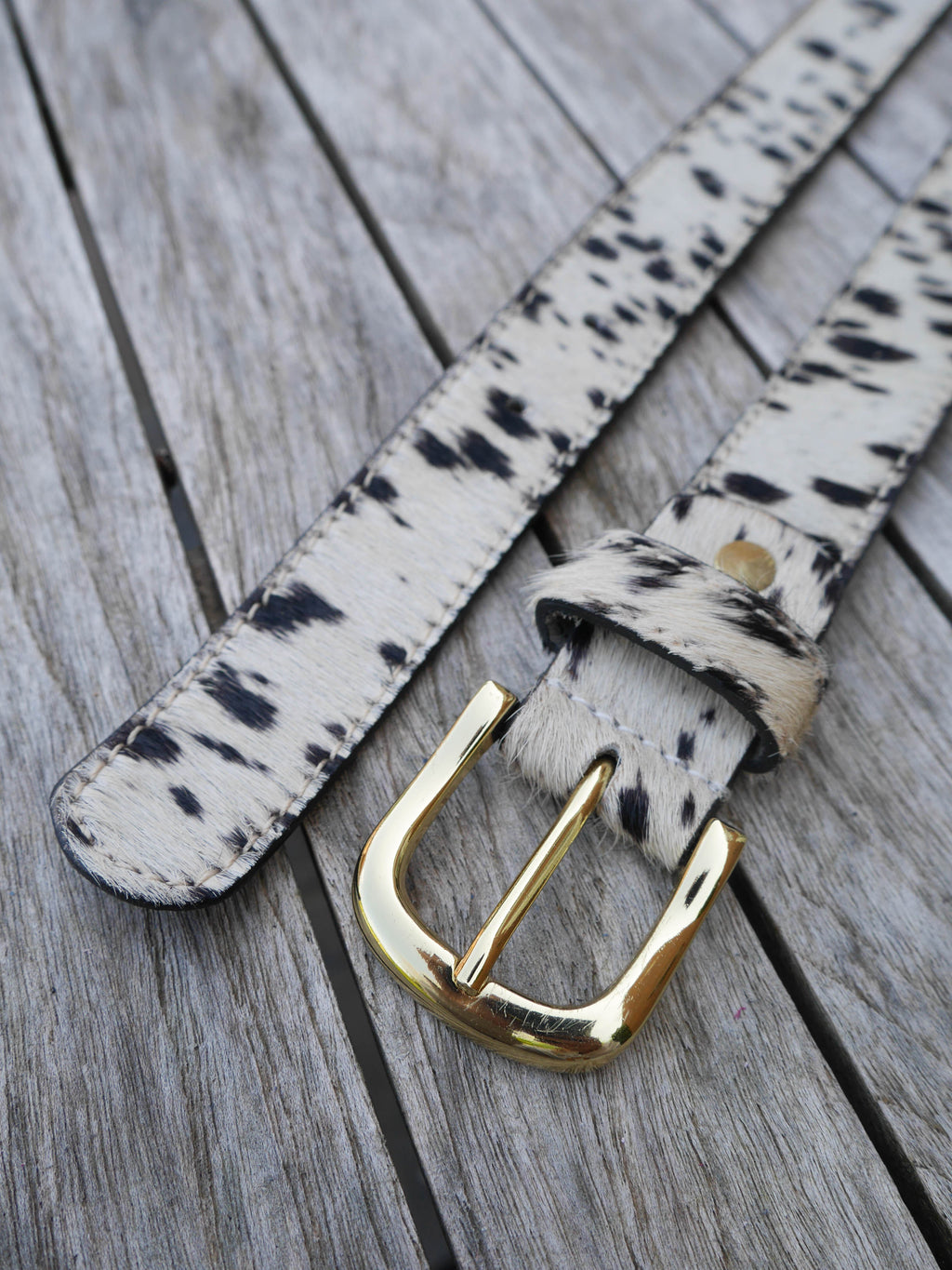Dalmatian Leather Belt