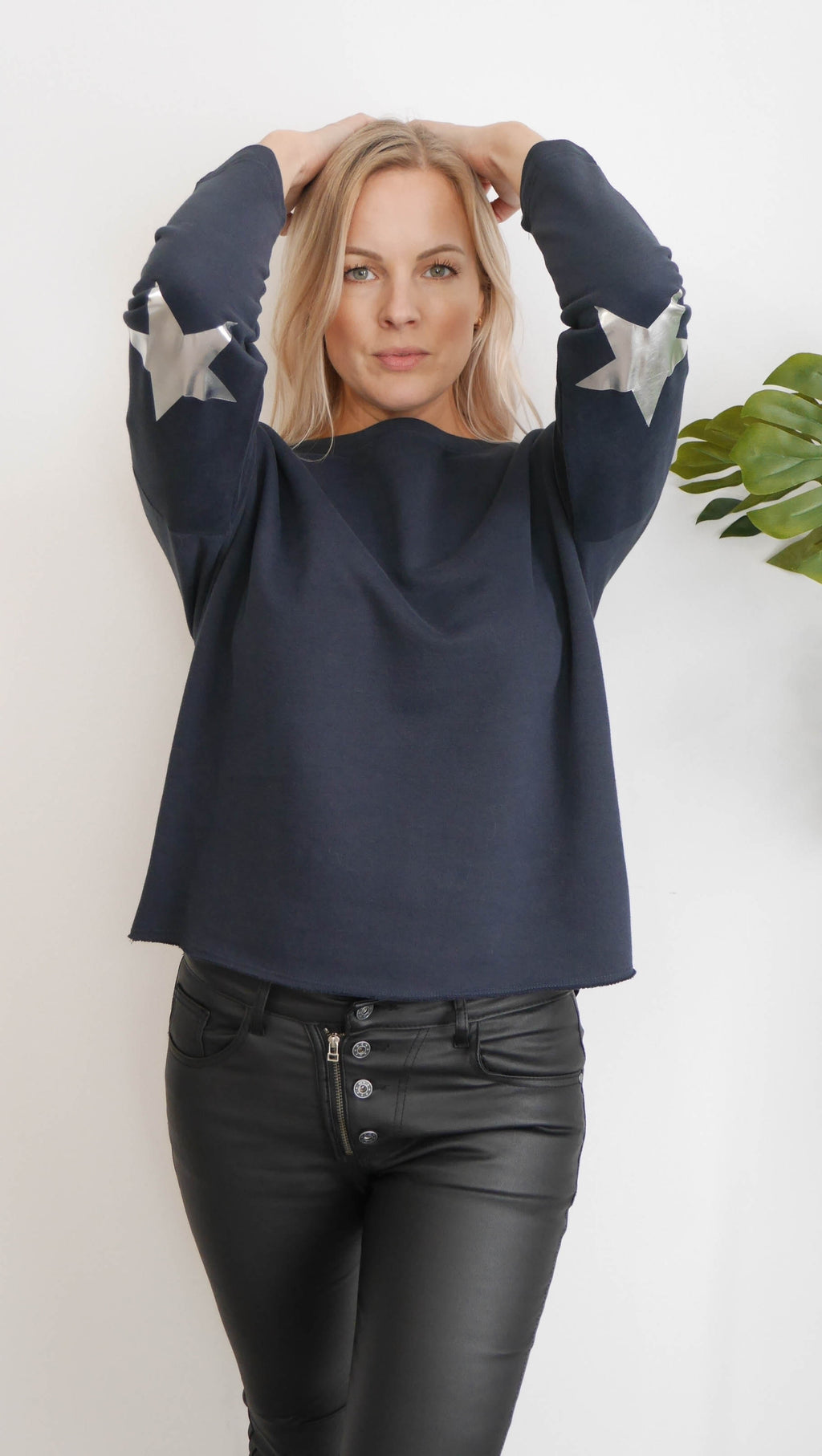 Navy Elbow Stars
