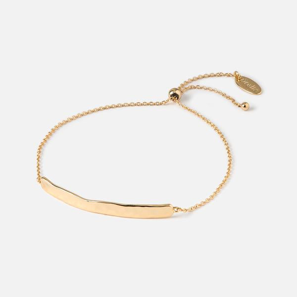 Orelia Hammered Bar Slider Bracelet