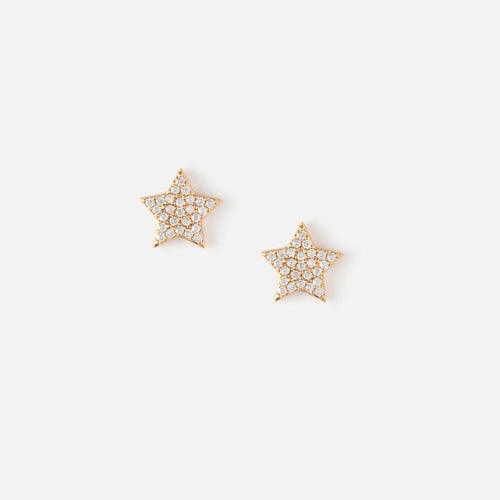 Orelia Pave Star Stud Earrings