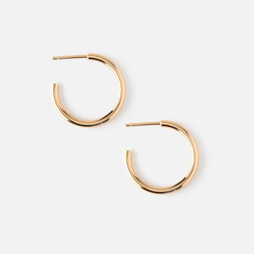 Orelia Chunky Mid Size Gold Hoops