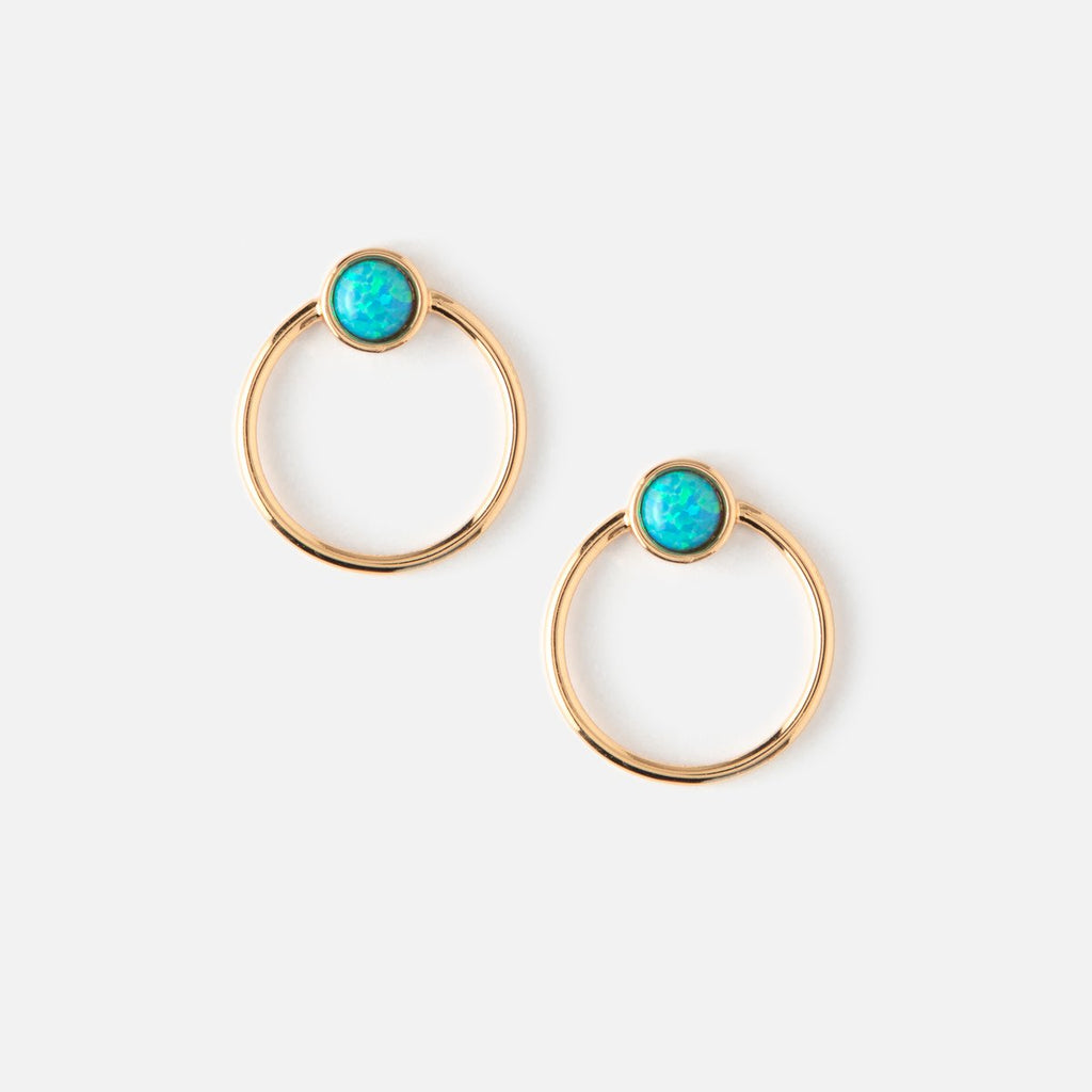 Orelia Opal Hoop Earrings