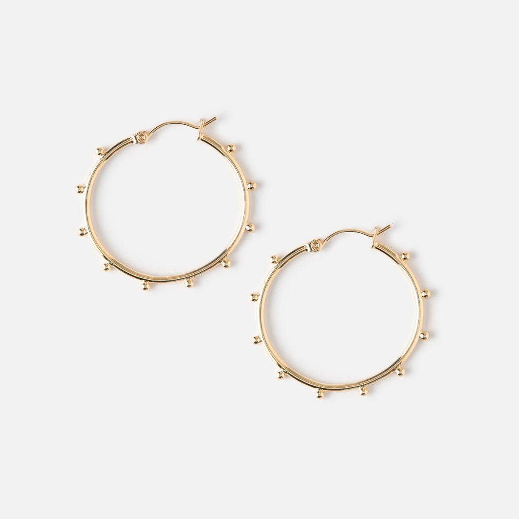 Orelia Beaded Hoop Earrings