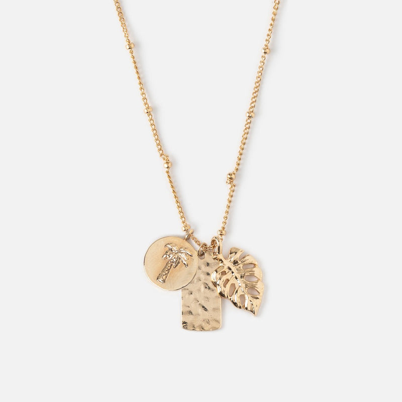 Orelia Tropical Palms Necklace