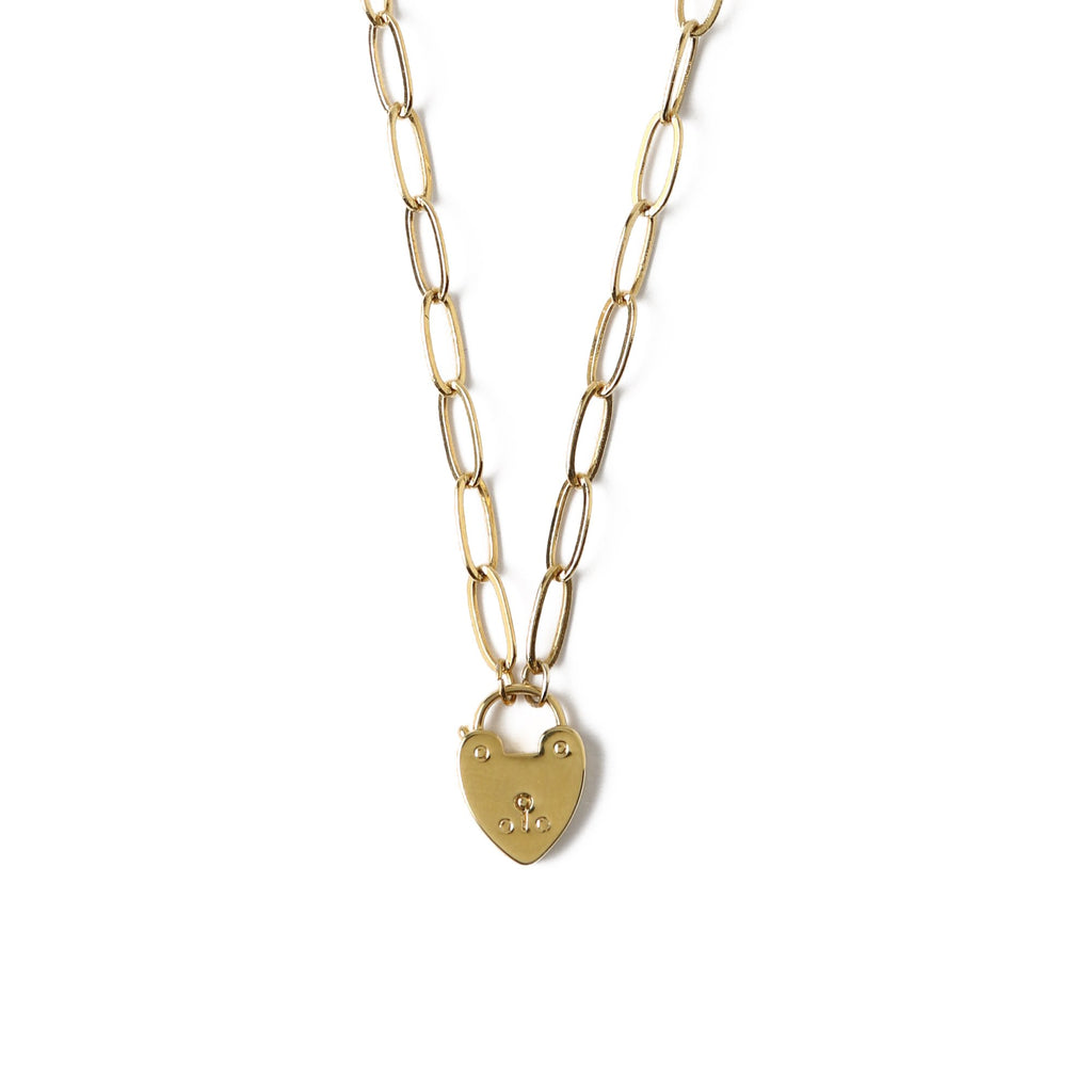 Orelia Heart Padlock Necklace