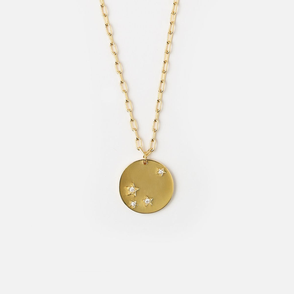 Orelia Starburst Disc Necklace