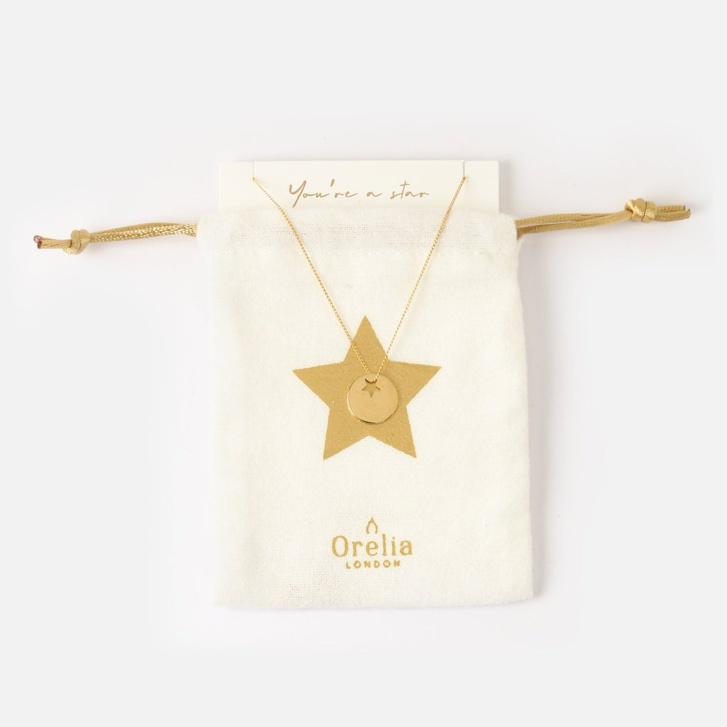 Orelia Star Coin Necklace Gift Pouch