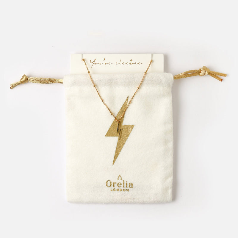 Orelia Lightning Necklace Gift Pouch