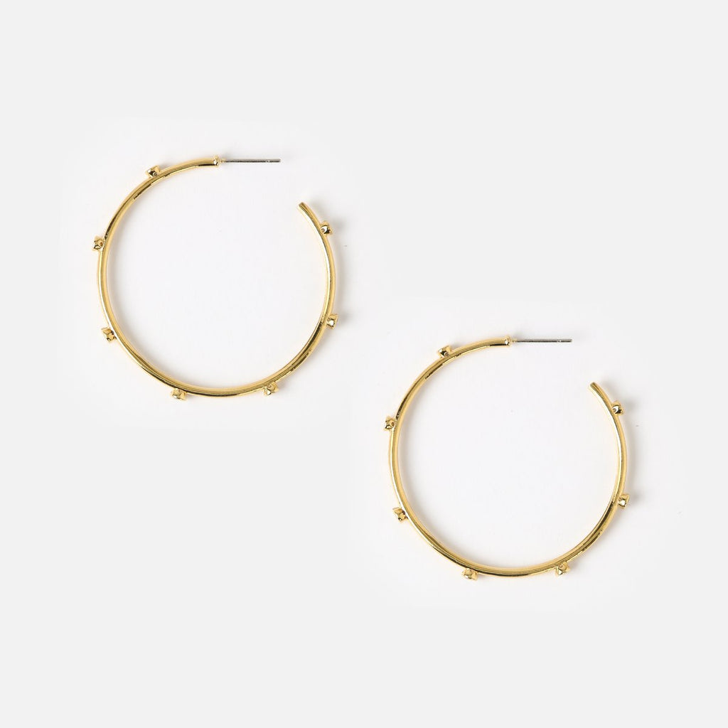Orelia Crystal Beaded Hoop Earrings