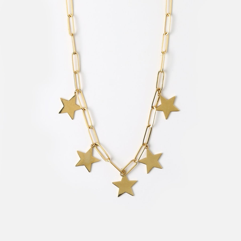 Orelia Star Long Link Necklace