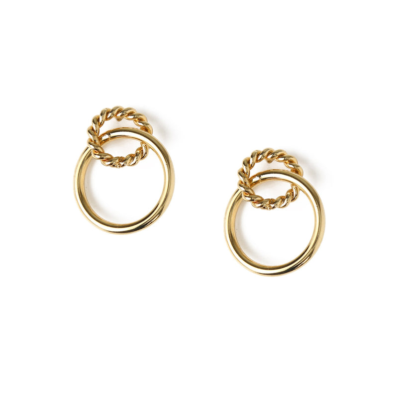 Orelia Rope Twist Hoop Earrings