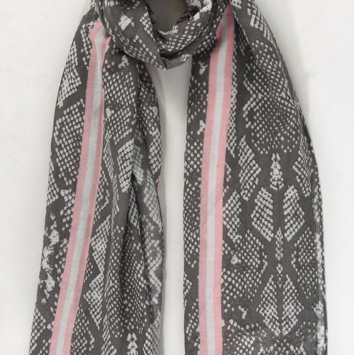 Colour Pop Snakeskin Scarf