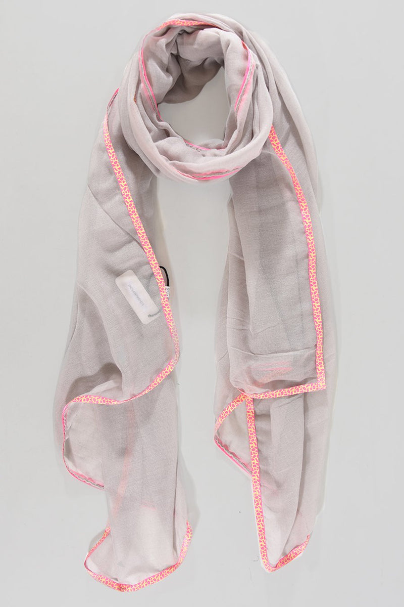 Animal Trimmed Scarf
