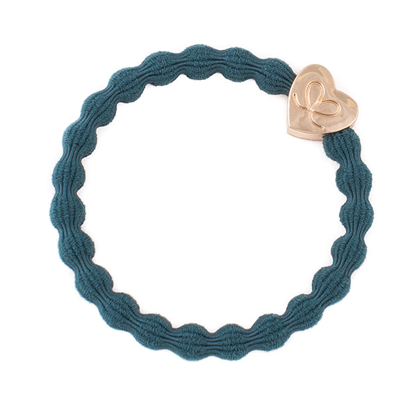 Gold Heart Bottle Green Charm Hair Band