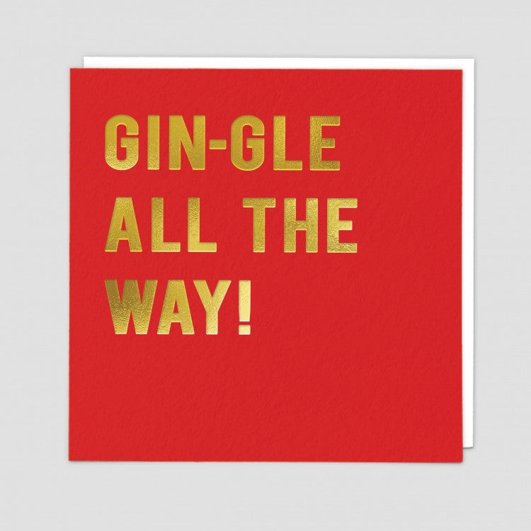 Gin-gle Christmas Card