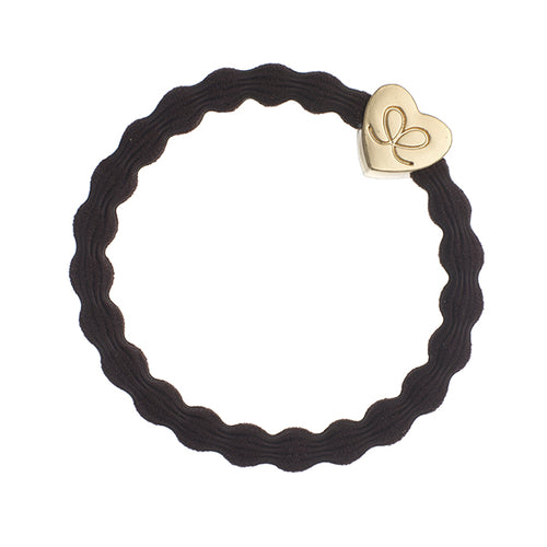 Gold Heart Chocolate Charm Hair Band