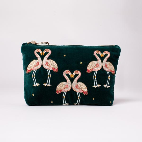 Elizabeth Scarlett Flamingo Make Up Bag