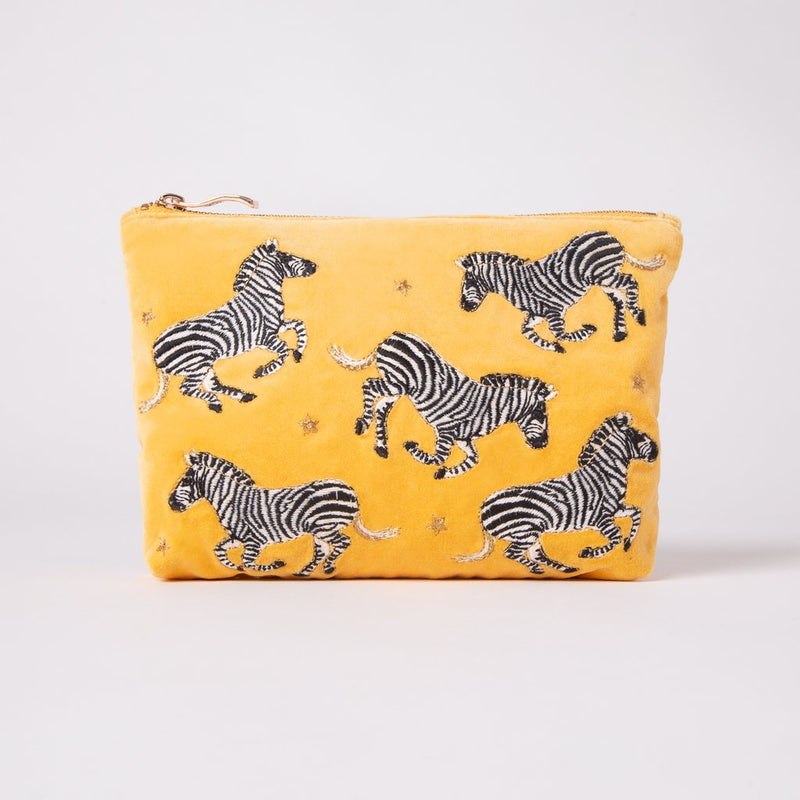 Elizabeth Scarlett Zebra Make Up Bag