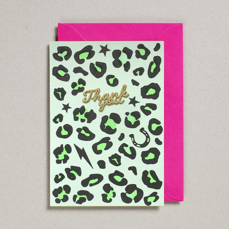 Animal Print Thank You Card