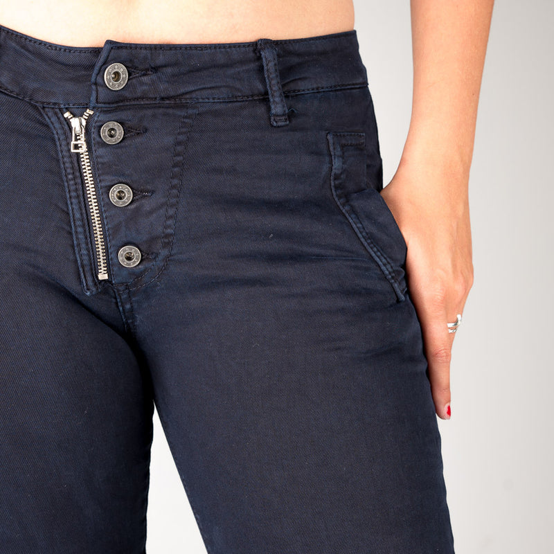 Melly & Co Navy 5 Button Hole Detail Jeans