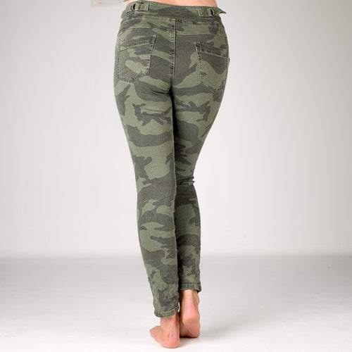 Melly & Co Camouflage Detail Jeans