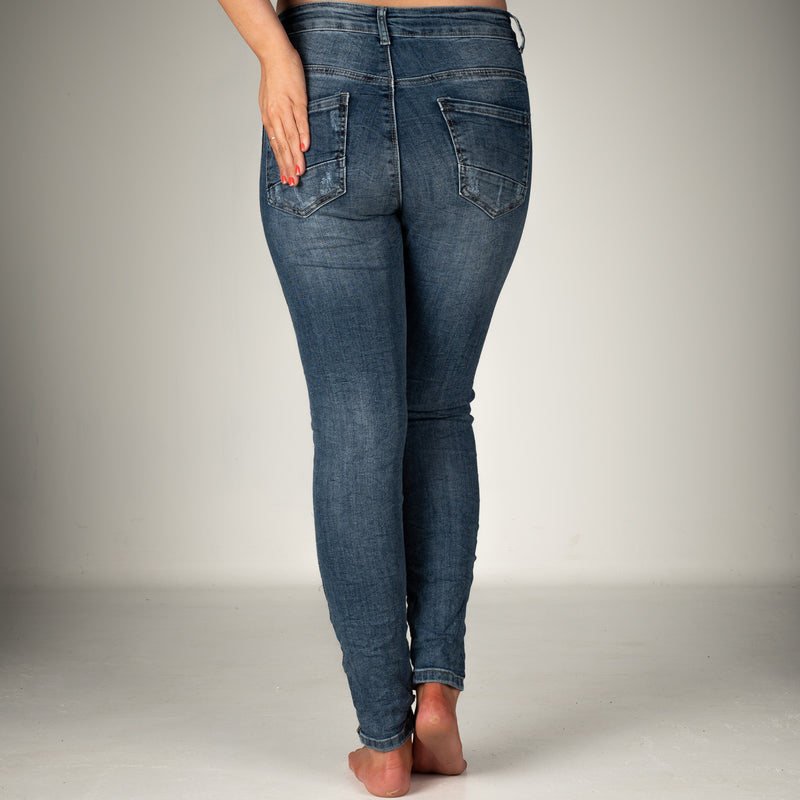Melly & Co Denim Silver Stripe Detail Jeans