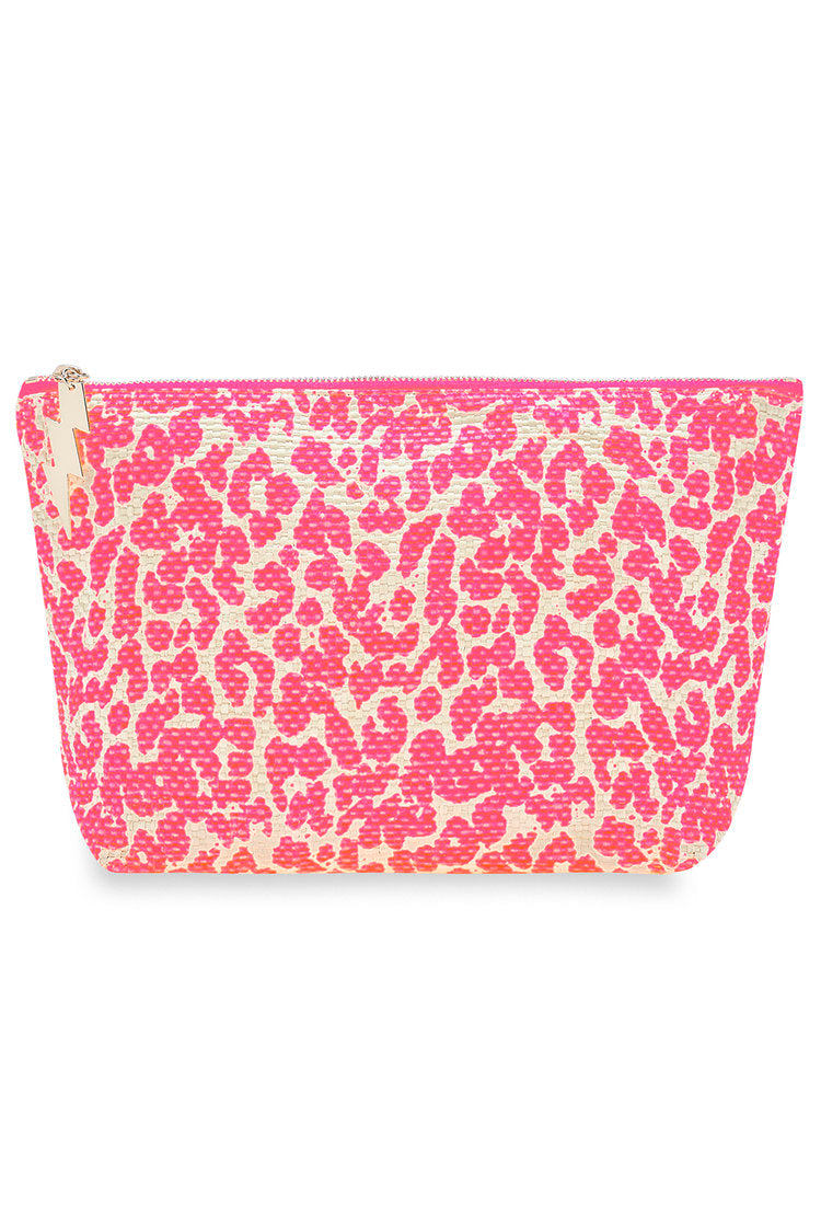 Pink Leopard Make Up Bag