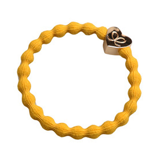 Gold Heart Mustard Charm Hair Band