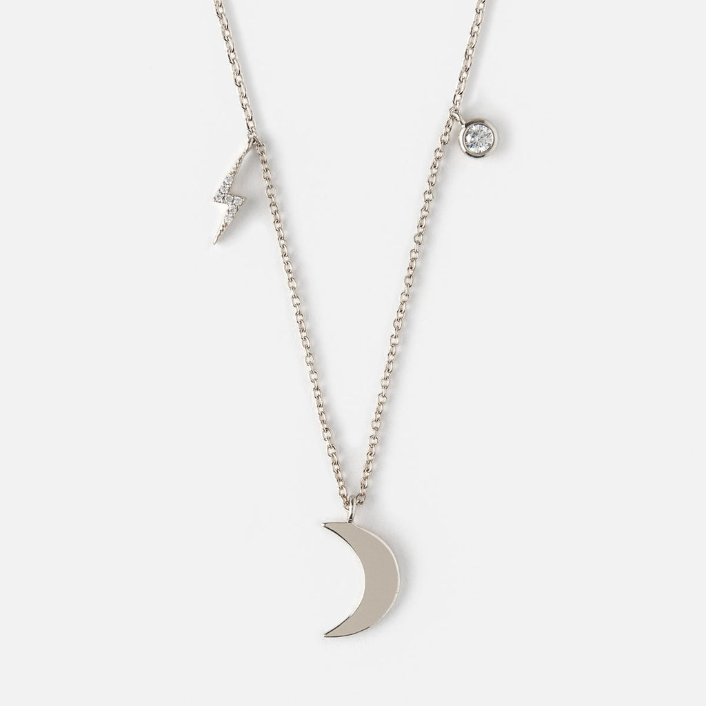 Orelia Moon & Lightening Charm Necklace