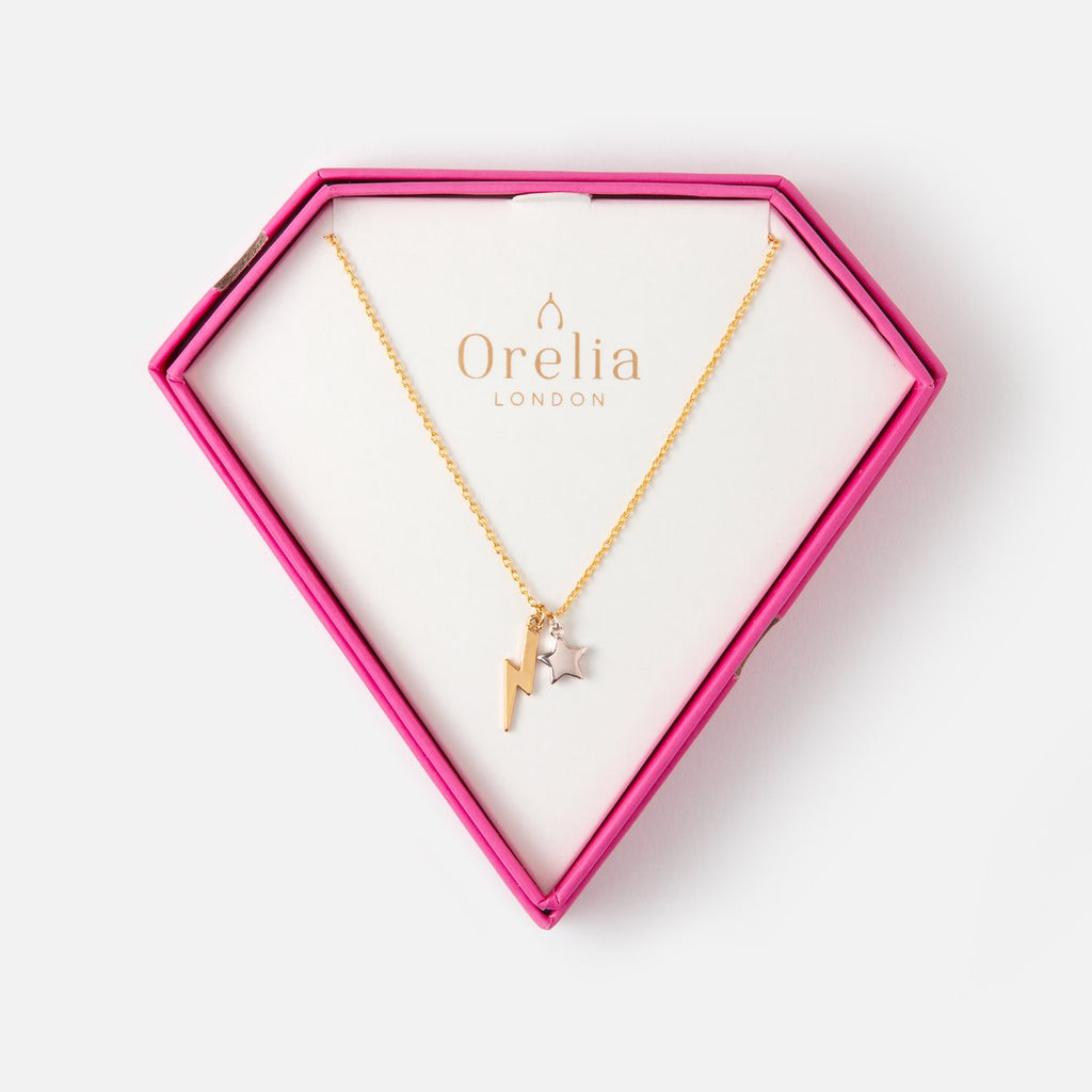Orelia Lightening & Star Necklace Gift Box