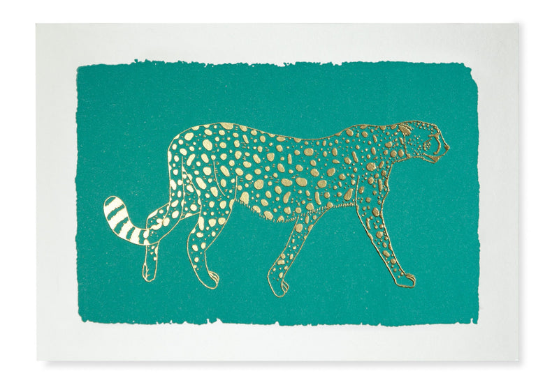 Cheetah Turquoise Notelets