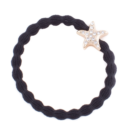 Starfish Black Charm Hair Band