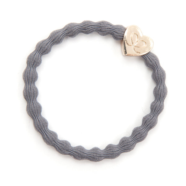 Gold Heart Storm Grey Charm Hair Band