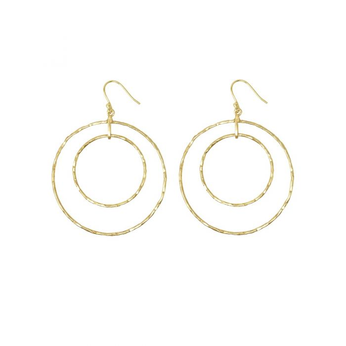 Marie Gold Hoop Earrings