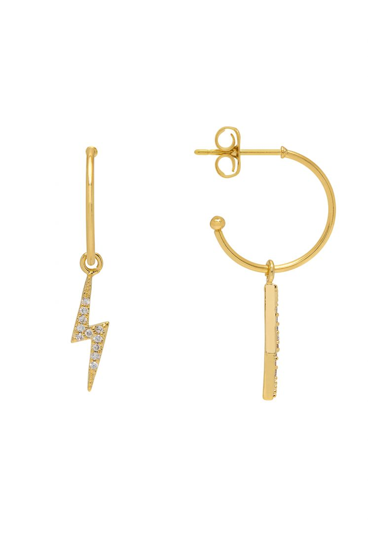 Estella Bartlett Lightning Bolt Drop Earrings