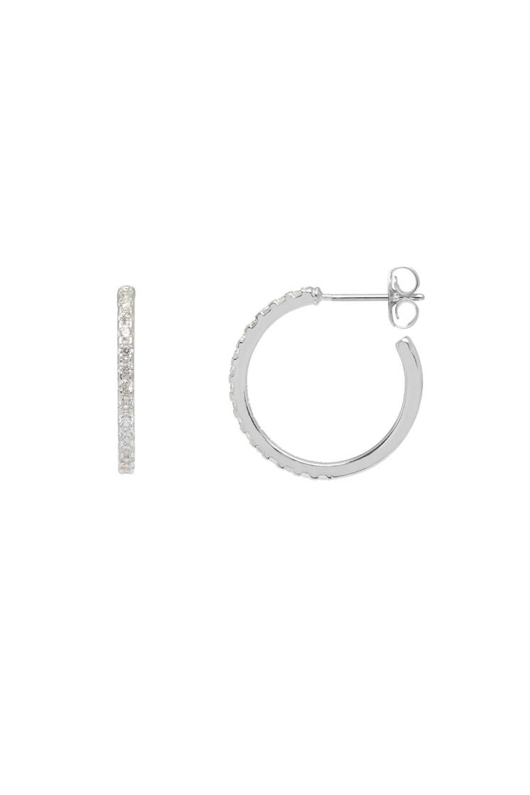 Estella Bartlett Pave Hoop Earrings
