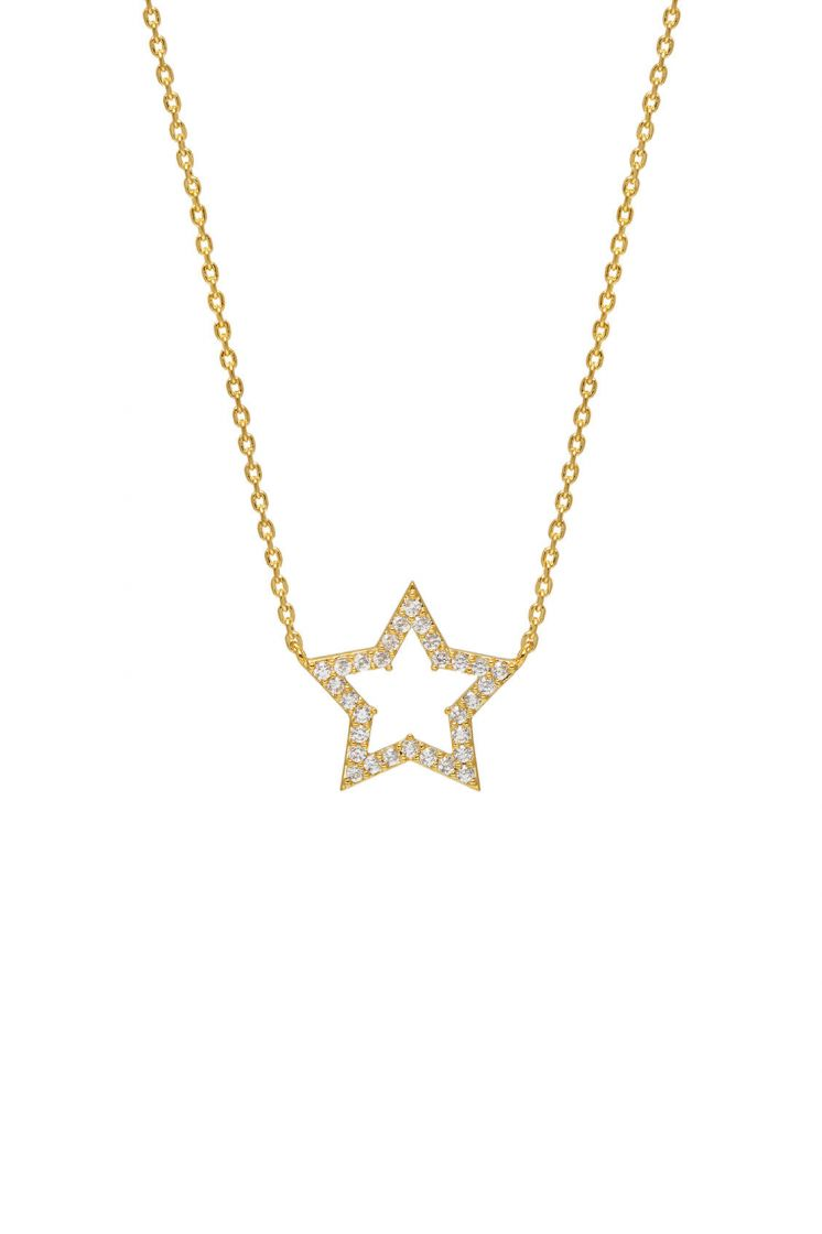 Estella Bartlett Open Star Necklace