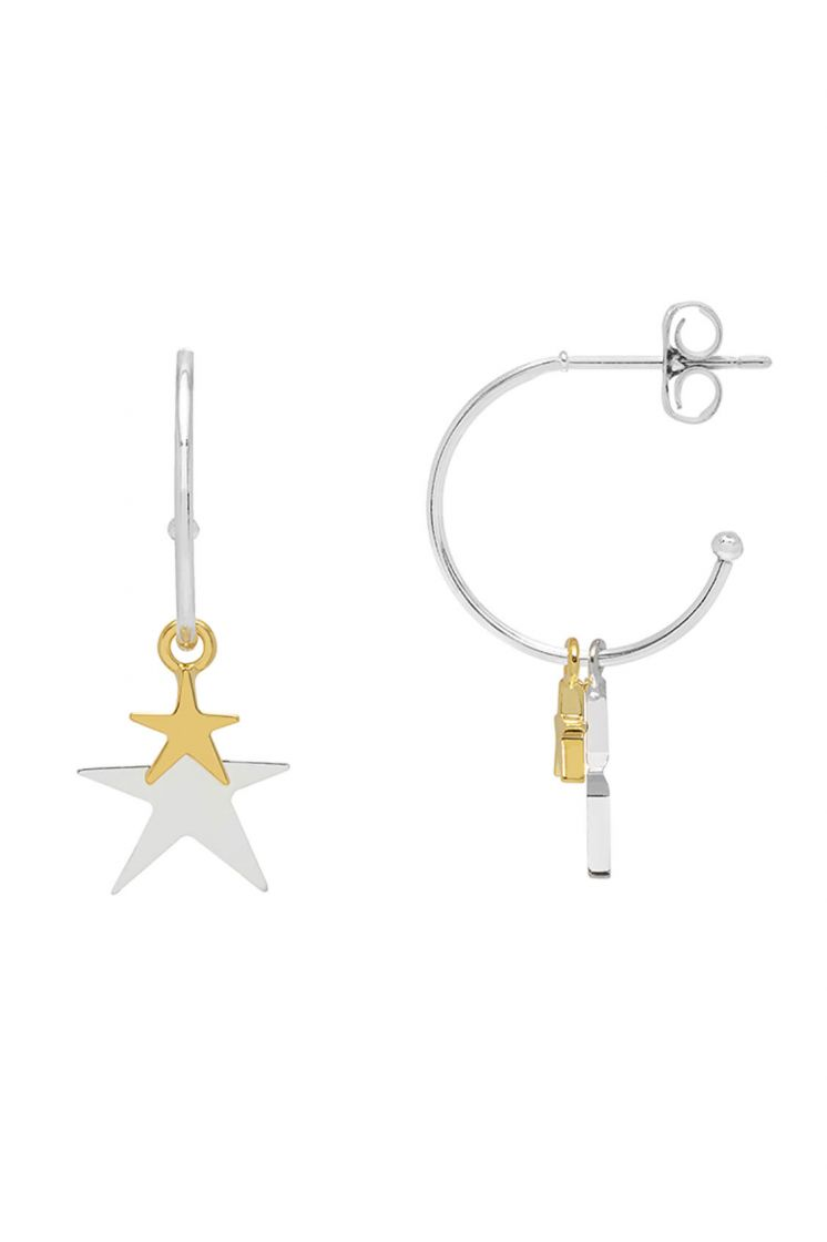 Estella Bartlett Double Star Drop Earrings