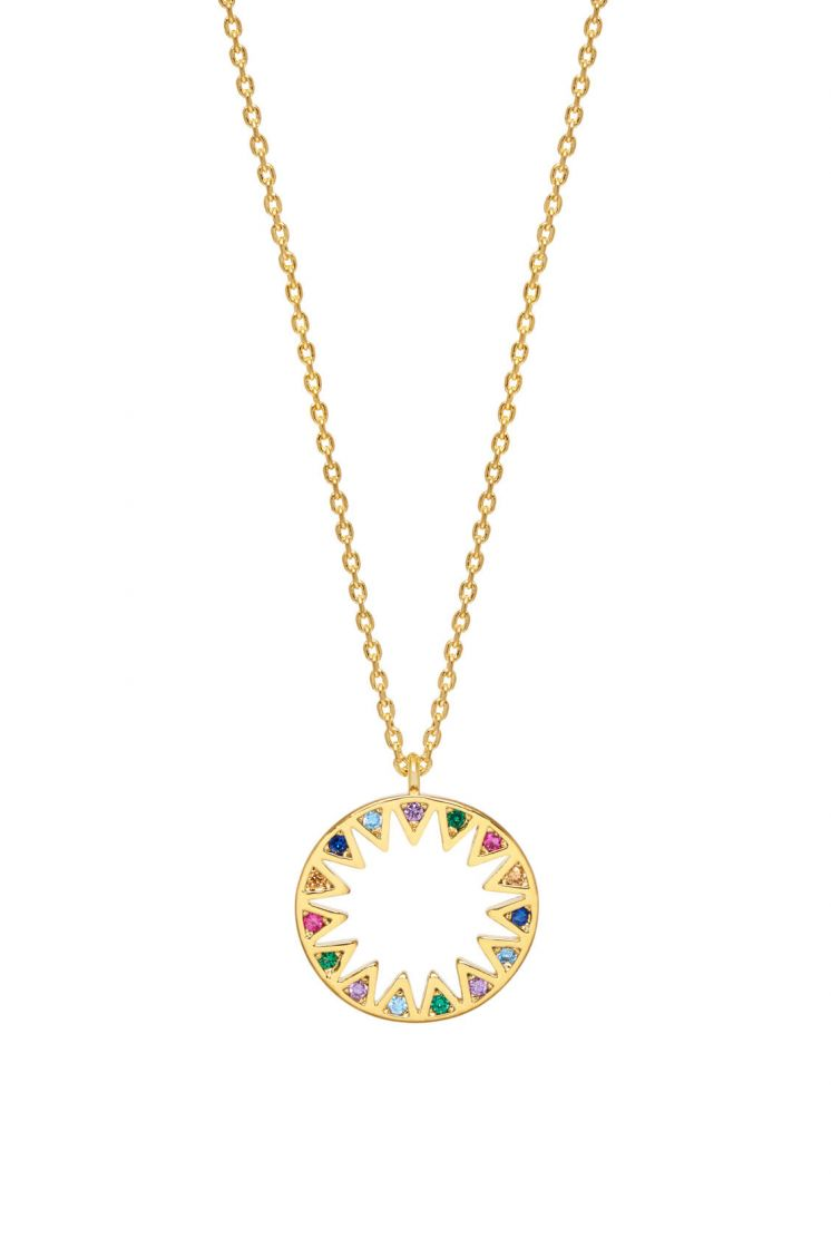 Estella Bartlett Rainbow Sunburst Necklace