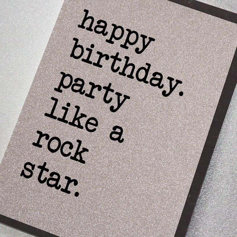Party Like a Rock Star Card
