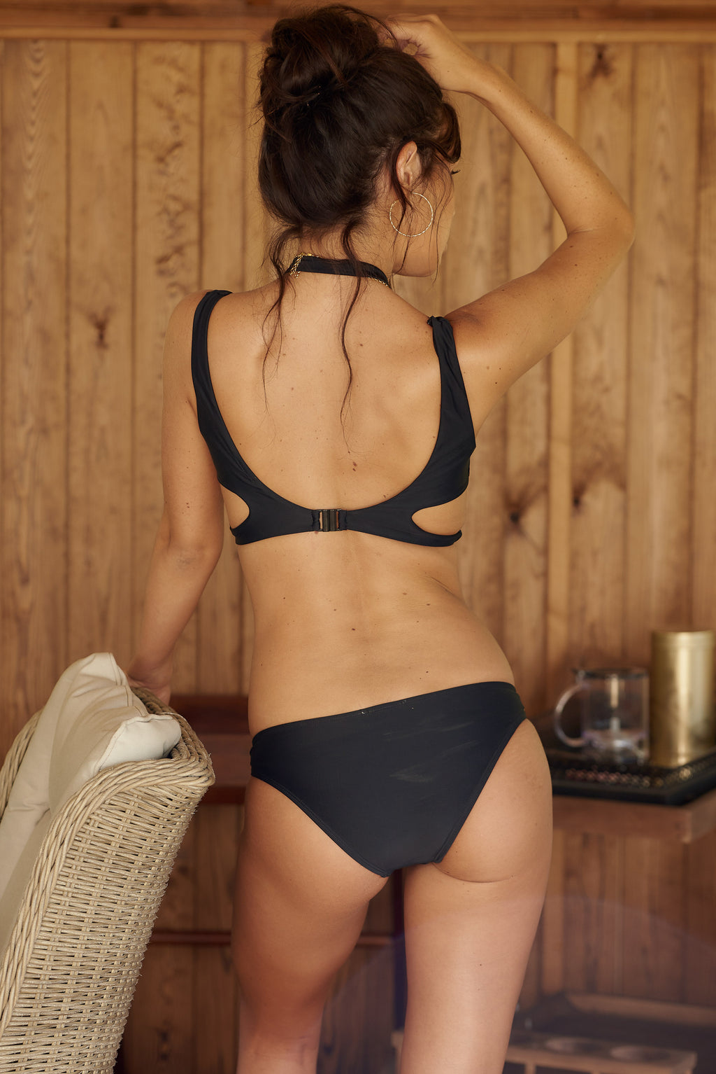 Black Ring Detail Bikini Bottoms